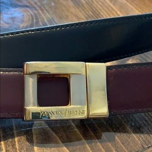 Vtg Yves Saint Laurent reversible leather belt